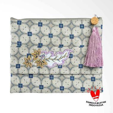 Origo Batik Pouch Bag - Grey [25 x 20 cm]