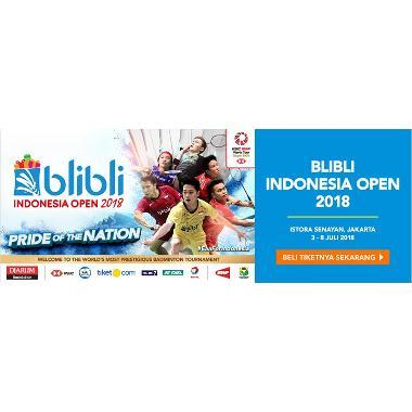 Blibli Indonesia Open E-Ticket [3 Juli 2018]