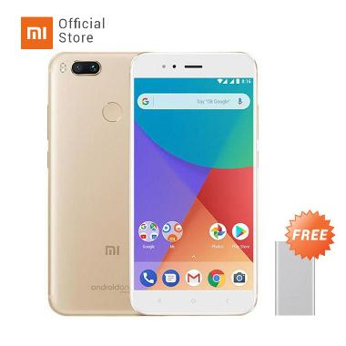 Xiaomi Mi A1 Smartphone - Gold [64G ... bank - Silver [10000 mAh]