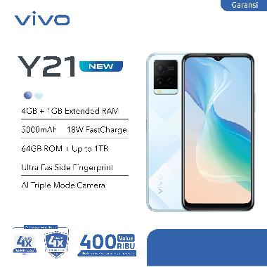 harga Vivo Y21 Smartphone [4+1GB/64GB] Diamond Glow Blibli.com