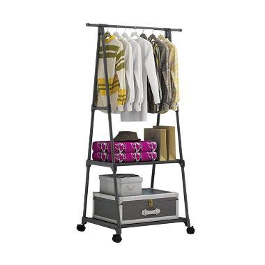 Godric 4 Roda Triangle Stand Multifunction Hanger Rak Serbaguna