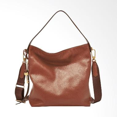 Fossil Maya Hobo Crossbody Leather Tas Wanita