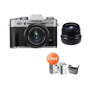 Fujifilm XT20 Kit XC15-45mm Kamera  ... irui Sling Bag [by Claim]