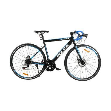 harga Element Police Toronto Sepeda Roadbike - Hitam Biru [Frame Steel/7 Speed/700C] Blibli.com