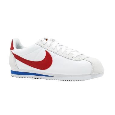 new concept aecac d36fd NIKE Classic Cortez Forrest Gump Sepatu Olahraga Unisex - White Red