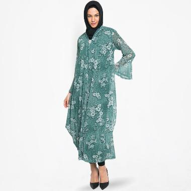 Kasa Heritage Kalista Long Dress Gamis Wanita - Green
