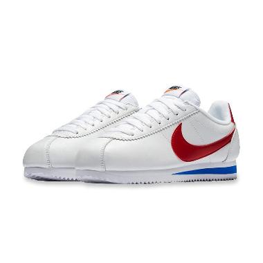 sneakers for cheap 548bf 5fef6 NIKE Womens Classic Cortez SE Sepatu Olahraga - White Red