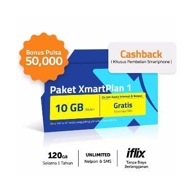 XL XmartPlan Kartu Perdana [10 GB]  ...  Juta + Pulsa Rp. 50 Ribu