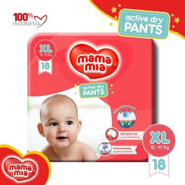 Mamamia Baby Diapers Pants [XL/18 pcs]