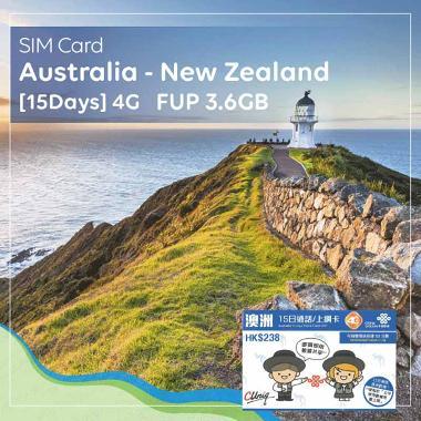 harga SIM Card Australia & New Zealand [15 Days] 4G/3G - FUP 3,6GB Blibli.com