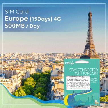 harga SIM Card Europe 4G [15 Days] 500 MB/DAY Blibli.com