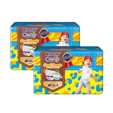 Anerle Cheris Tipe Celana Popok Bayi [Size M36x2 Jumbo Pack]