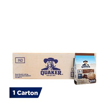 Quaker 3in1 Rasa Chocolate Oatmeal [1 Carton isi 12 pcs @7 Sachet/ Kemasan  Polybag]