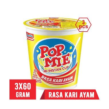Pop Mie Kari Ayam Mie Instan [60 g/ 3 pcs]