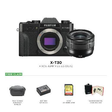 harga Fujifilm X-T30 Kit 15-45mm + Peak Design Everyday Sling 5L + Battery NP-W126S + SDHC 32GB + Sandisk Card Holder Blibli.com