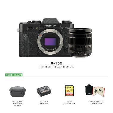 harga Fujifilm X-T30 Kit 18-55mm + Peak Design Everyday Sling 5L + Battery NP-W126S + SDHC 32GB + Sandisk Card Holder Blibli.com