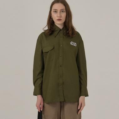 3Mongkis Star Wars M018 Oversized Shirt Atasan Wanita - Army Green
