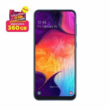 Samsung Galaxy A50 Smartphone [128GB/ 6GB] + Stater Pack SP Bosku Smartfren 360 GB