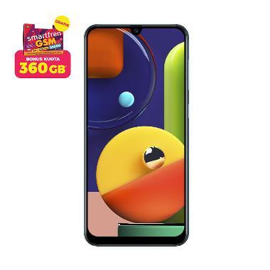 Samsung Galaxy A50s Smartphone [4 GB/ 64GB] + Stater Pack SP Bosku Smartfren 360 GB