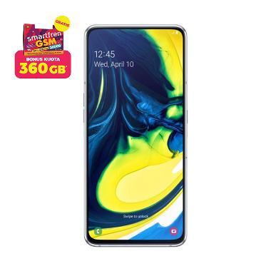 Samsung Galaxy A80 Smartphone [8 GB/ 128 GB] + Stater Pack SP Bosku Smartfren 360 GB