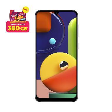 Samsung Galaxy A50s Smartphone [6 GB/ 128 GB] + Stater Pack SP Bosku Smartfren 360 GB