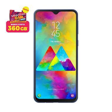 Samsung Galaxy M20 Smartphone [32GB/ 3GB] + Bonus Kuota Data 120 GB + Stater Pack SP Bosku Smartfren 360 GB
