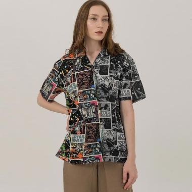3Mongkis Star Wars M012 Graphic Comic Shirt Atasan Wanita - Black