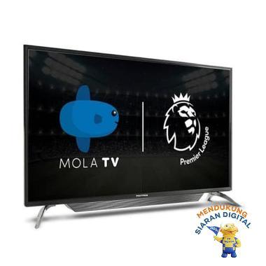 harga POLYTRON PLD-43AS1558 LED Mola Smart TV [43 Inch] - HITAM - Blibli.com