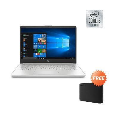 harga HP 14s-dq1017TU Notebook - Silver  [i5-1035G1/ 512GB/ 8GB/ Intel UHD Graphis/ LCD 14 FHD/ Win10] + Free HDD External 1TB Blibli.com