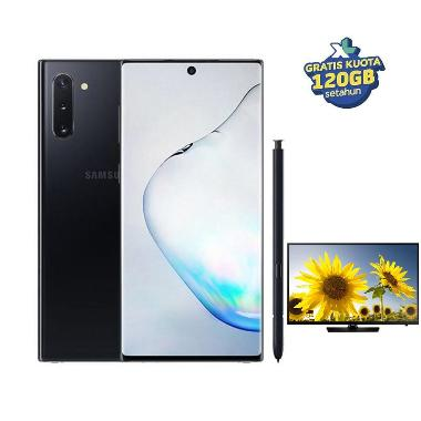 Samsung Galaxy Note10 Smartphone [256GB/ 8GB/A] + Bonus Internet 120GB  + Free Samsung TV 24 Inch UA24H4150 (Claim via SGI)