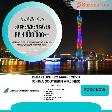 Sukses Tour Travel Paket Tour China 5d Shenzhen Saver