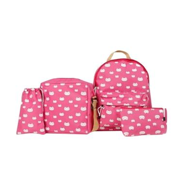 Antelope 4in1 Cat Printed Set Backpack Wanita