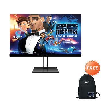 harga AOC Ultra Slim 27V2Q Monitor [Full HD/ IPS/ 27-Inch/ FreeSync/ Low Blue Mode] + Free Backpack Blibli.com