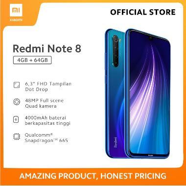 harga Redmi Note 8 (4GB+64GB) 48MP Quad Kamera Snapdragon 665 Layar FHD 6.3 Baterai 4000mAh Garansi Resmi Blue Blibli.com