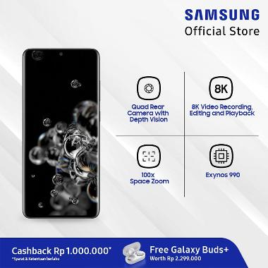 Samsung Galaxy S20 Ultra Smartphone [128GB/ 12GB] + Samsung Galaxy Buds+