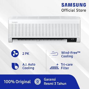 Samsung AR18TYEAEWKNSE Wind-Free Technology AC Split [2 PK] + Free TV UA24T4001ARXXD (SnK Berlaku, claim via Samsung RMS)