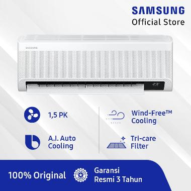 Samsung AR13TYEAEWKNSE Wind-Free Technology AC Split [1.5 PK] + Pipe + Bracket Free Microwave MS23K3515AS (SnK Berlaku, claim via Samsung RMS)