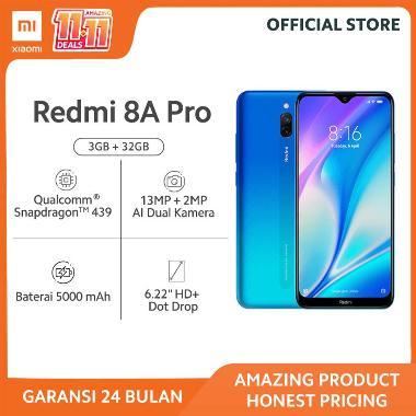 harga Redmi 8A Pro (3GB+32GB) Snapdragon 439 12MP+8MP AI Dual Kamera Baterai 5000mAh - Garansi Resmi 24 Bulan BLUE Blibli.com