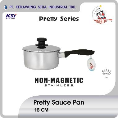Master Chef Pretty Panci Stainless Sauce Pan [16 cm] silver