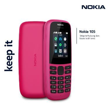 harga NOKIA 105 Dual Sim Display 1.77QQVGA Removable 800mAh FM Radio PInk Blibli.com