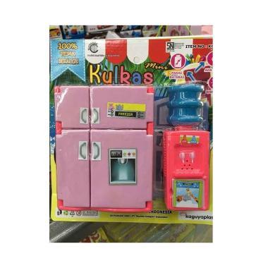 harga Mainan anak kulkas nyala dispenser galon refrigerator dapur mini masak Blibli.com