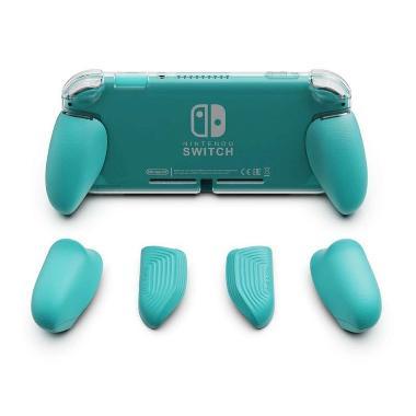 harga Rocket Games - Skull & Co Grip Case TPU Nintendo Switch LITE - Turquoise ONLY GRIP Blibli.com