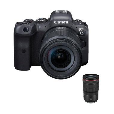 harga Pre Order - Canon EOS R6 kit 24-105mm IS STM + PWP Lensa RF 15-35mm Black Blibli.com