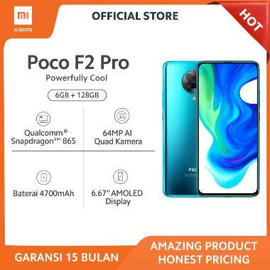 "harga Poco F2 Pro 6+128GB Snapdragon 865 dengan 5G, 64MP Quad Kamera, True Fullscreen 6.67"" AMOLED FHD+, Baterai 4700mAh, Garansi Resmi Blue Blibli.com"