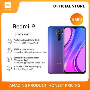 harga Xiaomi Redmi 9 (3GB+32GB) 13MP Quad Kamera Helio G80 Layar 6.53 FHD+ Baterai 5020mAh Garansi Resmi Purple Blibli.com