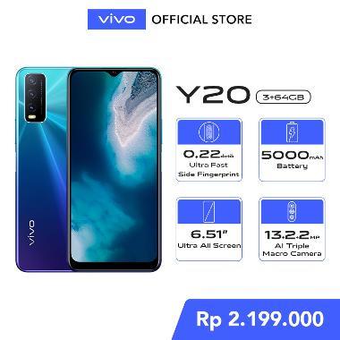 harga Vivo Y20 3GB/64GB - 6.53