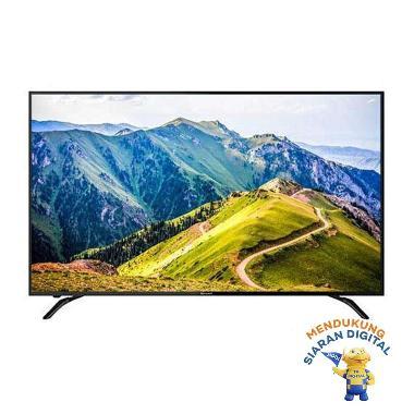 harga SHARP 4T-C 60 AH1X / TELEVISI 60 IN LED TV ULTRA HD 4 SMART TV / 4TC60AH1X - black Surabaya Blibli.com