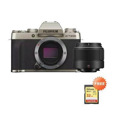 harga Fujifilm X-T200 Kamera Mirrorless [Body Only] + XC35 F2.0 Lens + Free Sandisk Extreme SD 32GB Champagne Gold Blibli.com