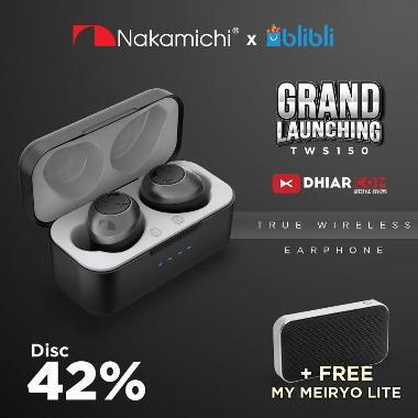 Nakamichi TW 150 Plus Earphone - Black Black