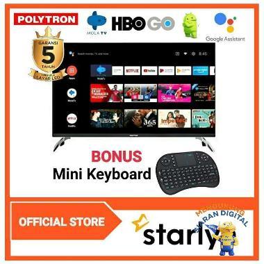 harga POLYTRON Smart Android Digital Mola TV 43inch PLD 43AG9953 BONUS MINI KEYBOARD Blibli.com